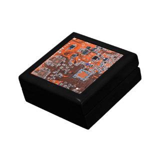 Computer Geek Circuit Board - orange Gift Box