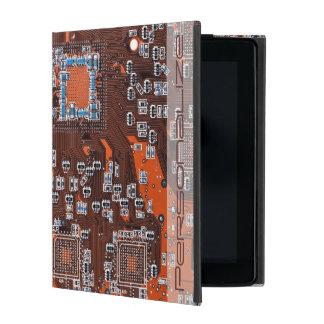 Computer Geek Circuit Board - orange iPad Cover