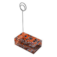 Computer Geek Circuit Board - orange Table Card Holder