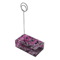 Computer Geek Circuit Board - pink purple Table Number Holder