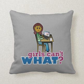 Computer Geek - Dark Throw Pillows