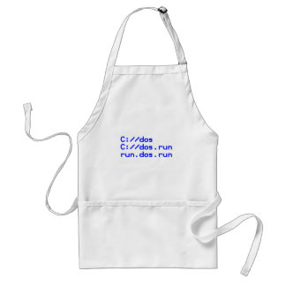 Computer geek funny adult apron