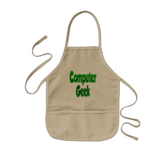 Computer Geek Green Kids' Apron