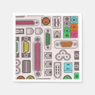 Computer Geek Input Pattern Napkins Paper Napkin