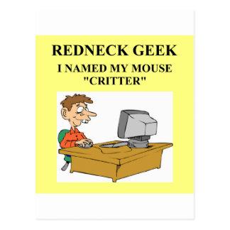computer geek joke postcard