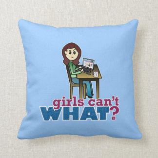 Computer Geek - Light Throw Pillows