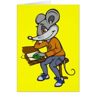Computer Geek Mouse Card