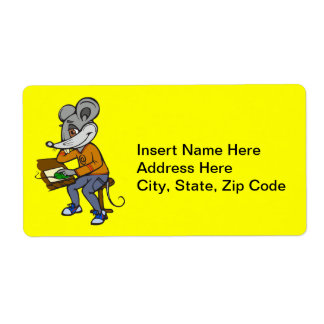 Computer Geek Mouse Label