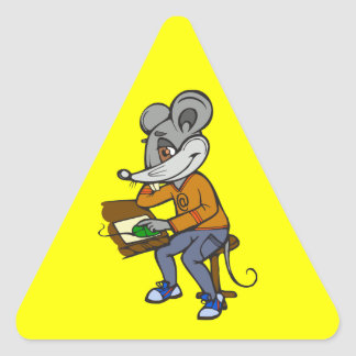 Computer Geek Mouse Triangle Sticker