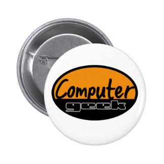 computer geek pinback button