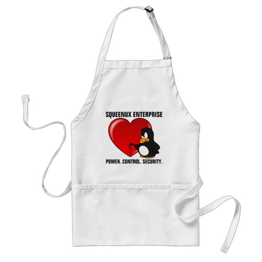 Computer Geek Valentine: Be Secure in Your Love Adult Apron