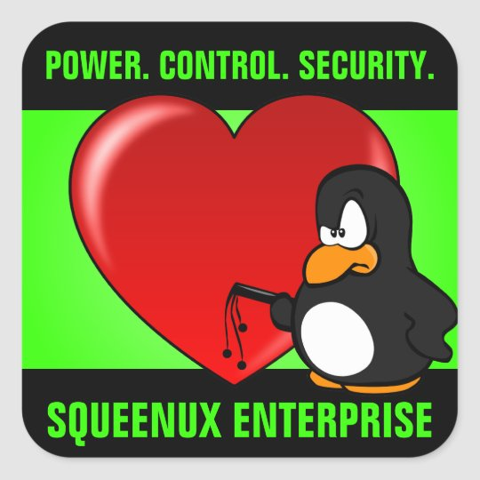 Computer Geek Valentine: Be Secure in Your Love Square Sticker