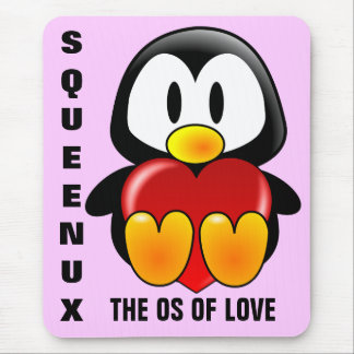 Computer Geek Valentine: Operating System for Love Mouse Pad