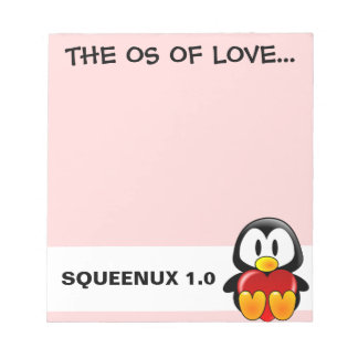 Computer Geek Valentine: Operating System for Love Notepad