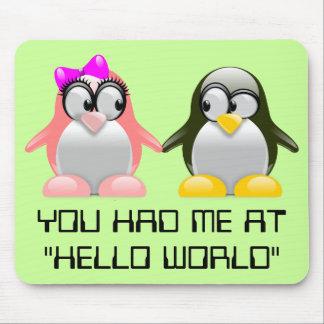 Computer Geek Valentine: Programming Language Love Mouse Pad