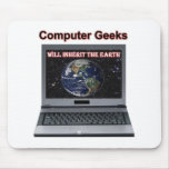 computer geeks will inherit the earth mouse pad
