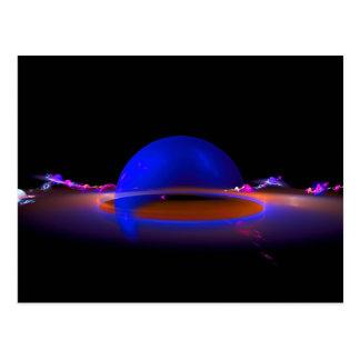 Computer Generated Fractal Planet Sphere Postcard