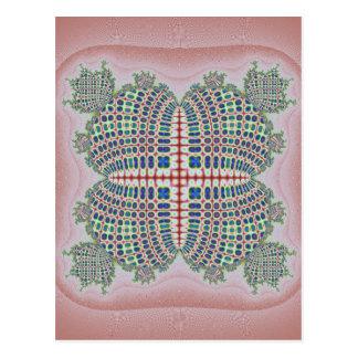Computer generated handcraft shaped fractals postcard