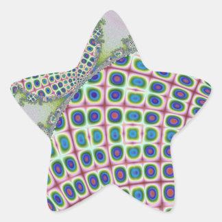 Computer generated handcraft shaped fractals star sticker
