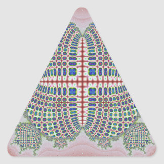 Computer generated handcraft shaped fractals triangle sticker