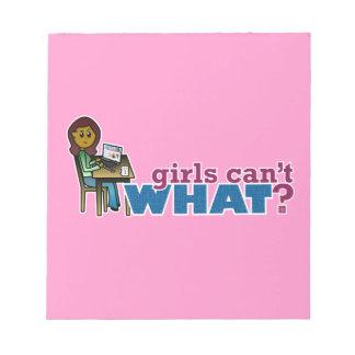 Computer Girl - Dark Notepad