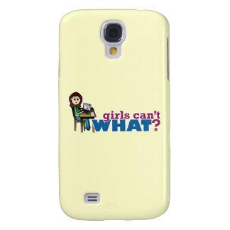 Computer Girl - Light Galaxy S4 Case