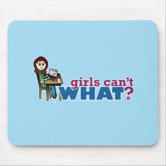 Computer Girl - Light Mousepads