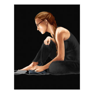 Computer Girl: Nerdy Is Beautiful Letterhead Design