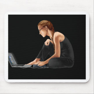 Computer Girl: Nerdy Is Beautiful Mouse Pad