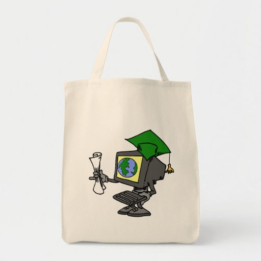 Computer Graduate Grocery Tote Bag