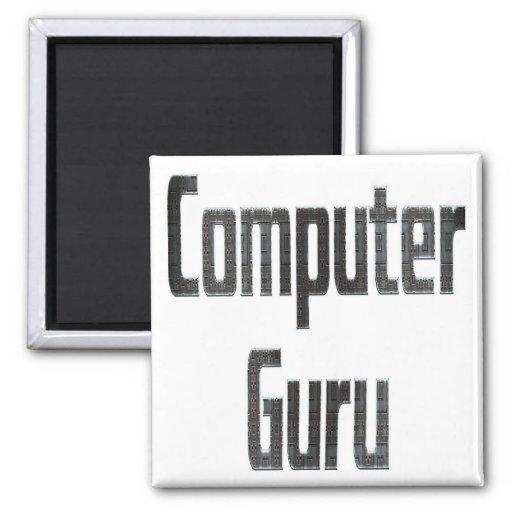 Computer Guru Grey Refrigerator Magnet