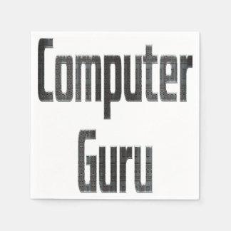 Computer Guru Grey Paper Napkin