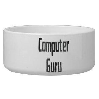 Computer Guru Grey Dog Food Bowls