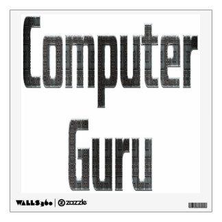 Computer Guru Grey Wall Decal