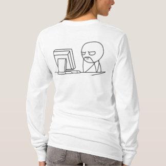 Computer Guy Meme - Design Ladies Long T-Shirt