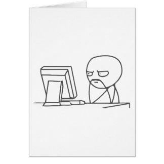 Computer Guy Meme - Greeting Card Vertical