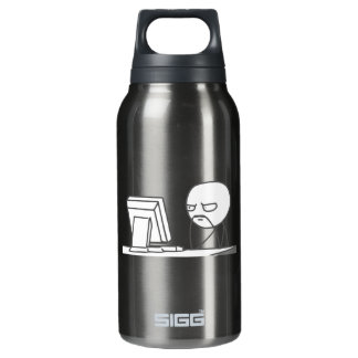 Computer Guy Meme - Insulated Water Bottle