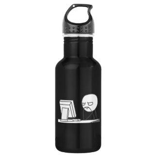 Computer Guy Meme - Stainless Steel Water Bottle