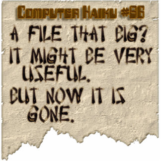 Computer Haiku #86 Cut Out