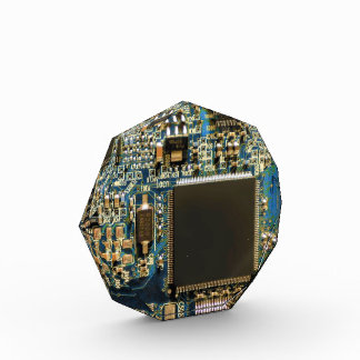 Computer Hard Drive Circuit Board blue Award