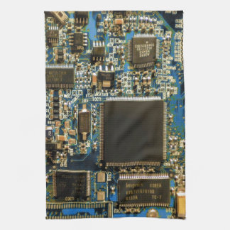 Computer Hard Drive Circuit Board blue Kitchen Towels