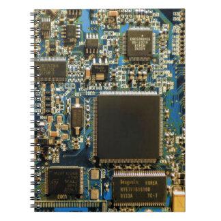 Computer Hard Drive Circuit Board blue Notebook