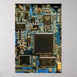 Computer Hard Drive Circuit Board blue Print