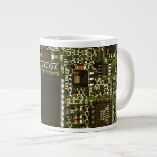 Computer Hard Drive Circuit Board Large Coffee Mug