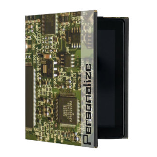 Computer Hard Drive Circuit Board Personalize Name iPad Cover