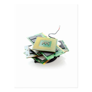 Computer hardware postcard