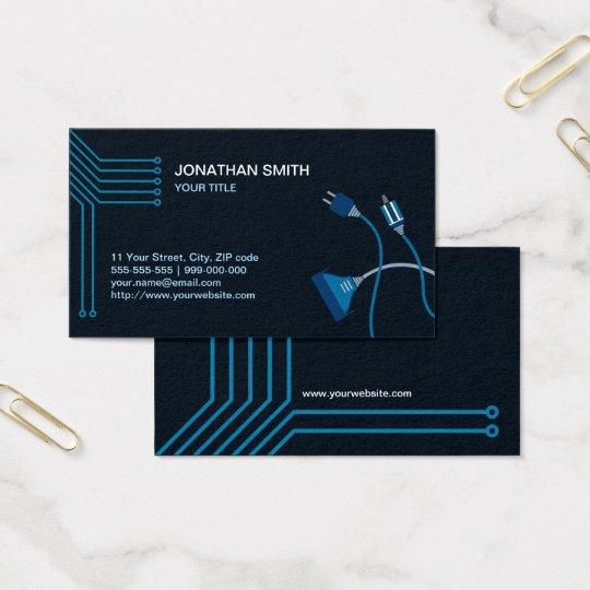 Computer Hardware Technician Business Card Zazzle Com