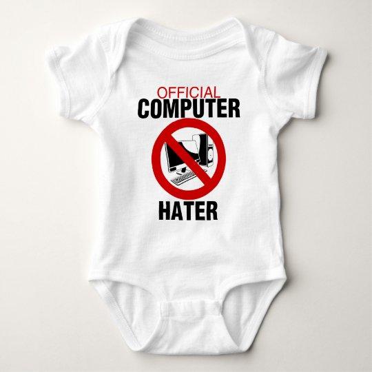 Computer Hater Baby Bodysuit