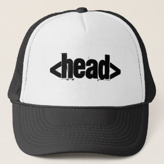 Computer Head Trucker Hat