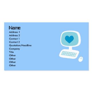 Computer Heart Business Cards Standard Business Cards